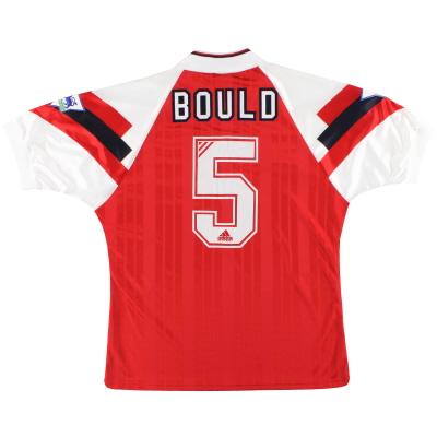 1993-94 Arsenal adidas Match Issue Home Shirt Bould #5 L