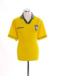 1993-94 Brazil Home Shirt L