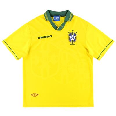 1993-94 Brazil Umbro Home Shirt L