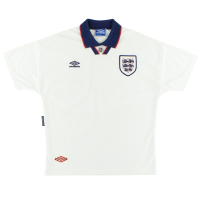 1993-94 England Home Shirt L