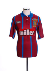 1993-95 Aston Villa Home Shirt 'Coca Cola Cup Final Winners' S