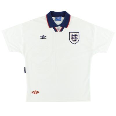1993-95 England Umbro Home Shirt XL
