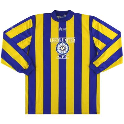1993-95 Leeds Acics Training Away Shirt L/S *Mint* XL