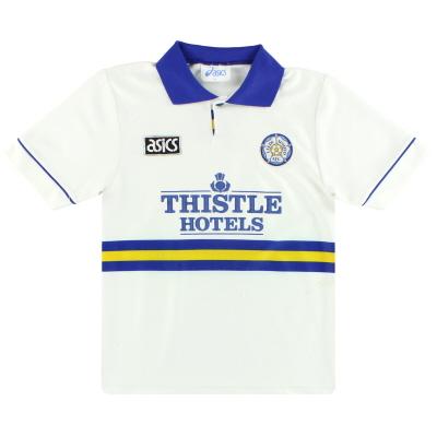 1993-95 Leeds Asics Home Shirt L.Boys