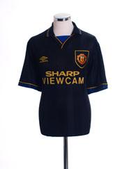 1993-95 Manchester United Away Shirt S