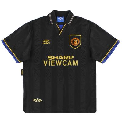 1993-95 Manchester United Umbro Away Shirt L