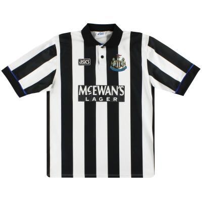 1993-95 Newcastle Asics Home Shirt XL