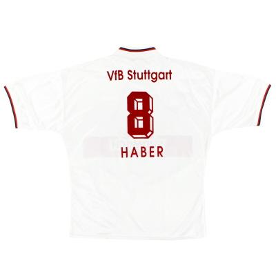 1993-95 Stuttgart Home Shirt Haber #8 XL
