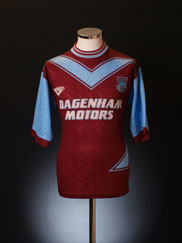 1993-95 West Ham Home Shirt L