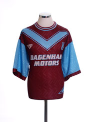 1993-95 West Ham Home Shirt S