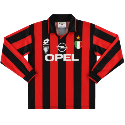 1994-95 AC Milan Lotto Home Shirt L/S Y