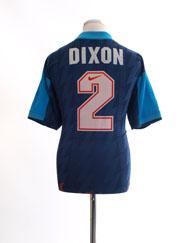 1994-95 Arsenal Away Shirt Dixon #2 L