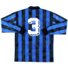 1994-95 Atalanta Player Issue Home Shirt #3 L/S XL