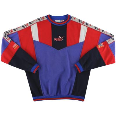 1994-95 Atletico Madrid Puma Sweatshirt L