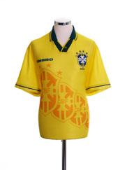 1994-95 Brazil Home Shirt M