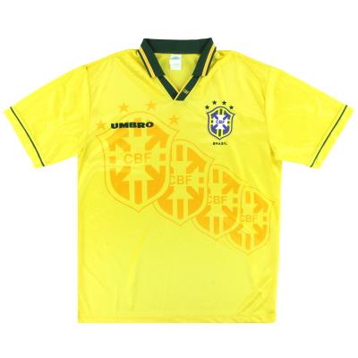 1994-95 Brazil Umbro Home Shirt M