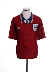 1994-95 England Away Shirt XL