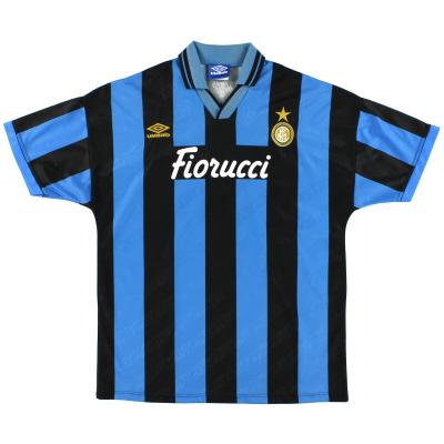 1994-95 Inter Milan Match Issue Home Shirt #15 XL