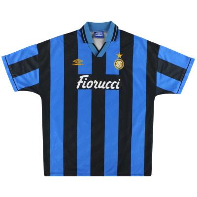 1994-95 Inter Milan Umbro Home Shirt XL