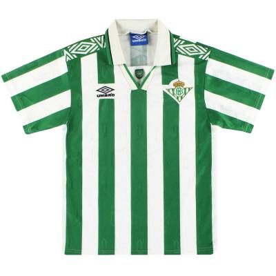 1994-95 Real Betis Umbro Home Shirt S