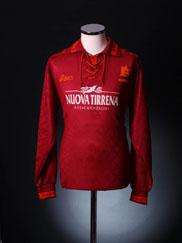 1994-95 Roma Match Worn Home Shirt #21 L/S L