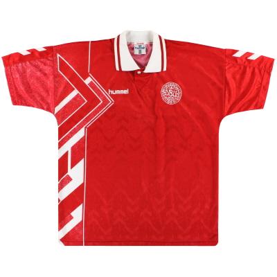 1994-96 Denmark Hummel Home Shirt L