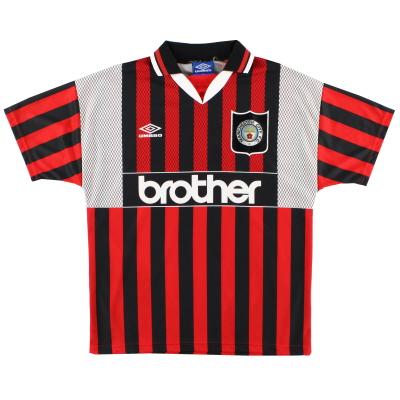 1994-96 Manchester City Umbro Away Shirt XXL