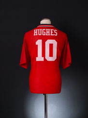 1994-96 Manchester United Home Shirt Hughes #10 L