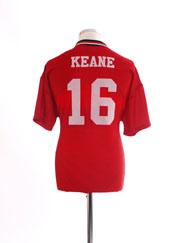 1994-96 Manchester United Home Shirt Keane #16 M