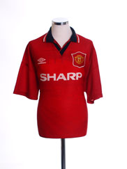 1994-96 Manchester United Home Shirt XL