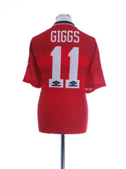 1994-96 Manchester United Home Shirt Giggs #11 L