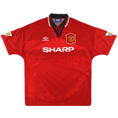 1994-96 Manchester United Nike Home Shirt XL