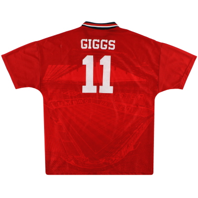 1994-96 Manchester United Home Shirt Giggs #11 XL