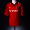 1994-96 Manchester United Home Shirt Cole #17 XL