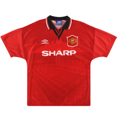 1994-96 Manchester United Umbro Home Shirt XL