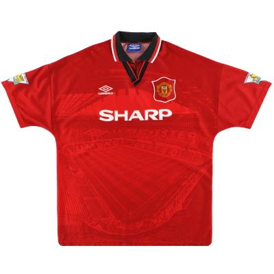 1994-96 Manchester United Umbro Home Shirt M