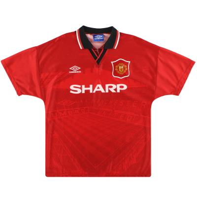 1994-96 Manchester United Umbro Home Shirt *Mint* XL