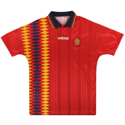 1994-96 Spain adidas Home Shirt L