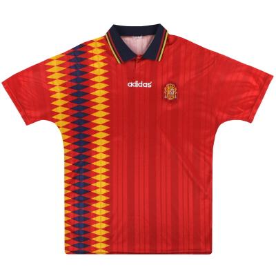1994-96 Spain adidas Home Shirt XL