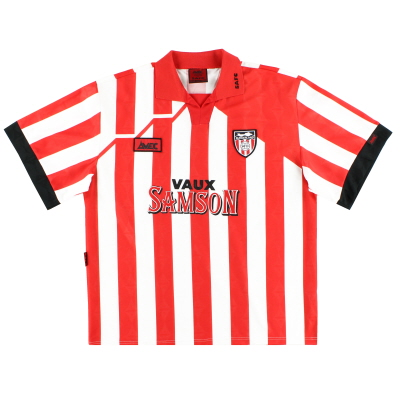 1994-96 Sunderland Avec Home Shirt L