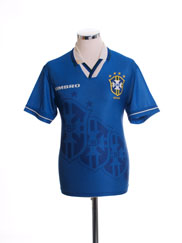1994-97 Brazil Away Shirt *Mint* XL
