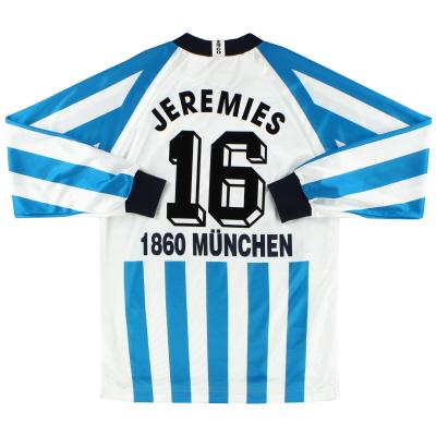 1995-96 1860 Munich Home Shirt Jeremies #16 L/S S