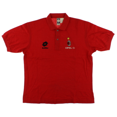 1995-96 AC Milan Lotto Polo Shirt XL