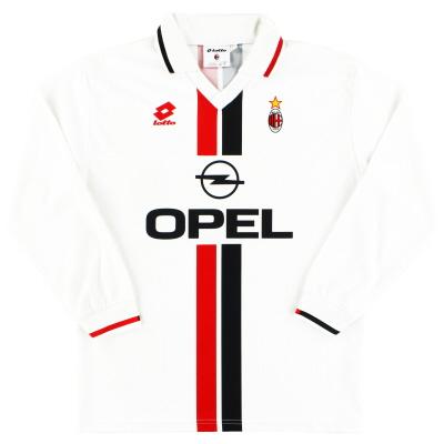 1995-96 AC Milan Lotto Away Shirt L/S L