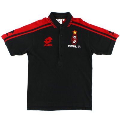 1995-96 AC Milan Lotto Polo Shirt L