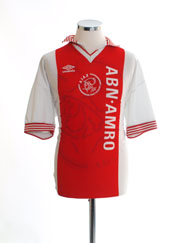 1995-96 Ajax Home Shirt #9 L