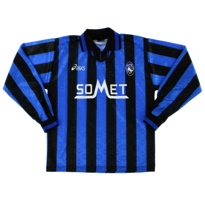 1995-96 Atalanta Home Shirt L/S *Mint* M