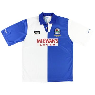 1995-96 Blackburn Asics 'Champions' Home Shirt L
