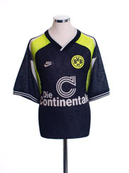 1995-96 Borussia Dortmund 'Deutscher Meister' Away Shirt L