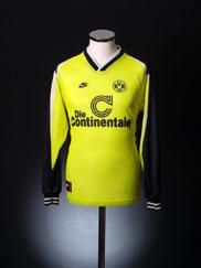 1995-96 Borussia Dortmund Home Shirt L/S L.Boys